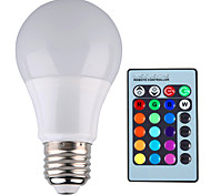 cheap -YWXLIGHT® 500 lm E26/E27 LED Globe Bulbs A60(A19) 1 leds High Power LED Dimmable Decorative Remote-Controlled RGB AC 85-265V
