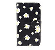 хризантемы шаблон PU кожаный чехол с подставкой для Samsung Galaxy S3 i8190 мини / S4 мини i9190 / S5 мини
