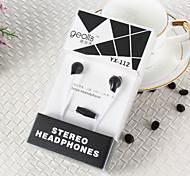 Недорогие -geolis YX-112 высокого качества 3,5 мм с функцией шумоподавления микрофон в ухо наушник для Iphone и других телефонов