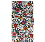 For Huawei Case / P9 Lite / P8 Lite Wallet / Card Holder Case Full Body Case Flower Hard PU Leather HuaweiHuawei P9 Lite / Huawei P8 Lite