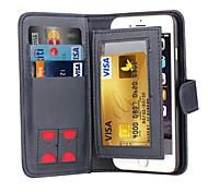 DE JI Magnetic 2 in 1 Luxury Leather Wallet Case Flip Cover+Cash Slot+Photo Frame Phone Case for iPhone 6 Plus/6S Plus