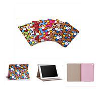бренд дизайнер Корея мило флип подсолнечное сверхтонкий кожи стойки книга случай смарт-чехол для IPad 4/3/2