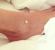Women's Anklet/Bracelet Gold Plated Unique Design Fashion Simple Style Costume Jewelry Heart Jewelry Jewelry For Party Daily Beach