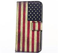 baratos -Capinha Para Samsung Galaxy Samsung Galaxy Capinhas Porta-Cartão Carteira Com Suporte Flip Capa Proteção Completa Bandeira PU Leather para