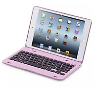 cheap -Case For iPad Mini 4 with Stand with Keyboard Flip Full Body Cases Solid Color Hard PC for