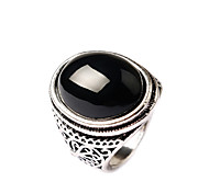 cheap -Women's Gold Plated Statement Ring - Fashion Black Red Ring For Party