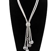 Недорогие -Жен. Заявление ожерелья - Elegant Серебряный Ожерелье Назначение Для вечеринок