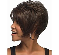 cheap -Synthetic Wig Wavy Brown Women's Capless Short Synthetic Hair