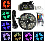 cheap -ZDM® 5m RGB Strip Lights 300 LEDs 1 12V 6A Adapter 1 44Keys Remote Controller 1 AC Cable RGB Cuttable Waterproof Self-adhesive Decorative
