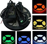Недорогие -ZDM® 5 метров Наборы ламп 300 светодиоды 1 адаптер 12V 6A 1 кабель переменного тока 1 Кабели постоянного тока Тёплый белый Белый Зеленый