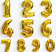 cheap -10pcs Large Gold Number 0-9 Balloons New Year Christmas Party Wedding Decoration Balloon