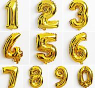 Недорогие -10шт большой золотой номер 0-9 шары новый год Christmas Party украшение свадьбы шар