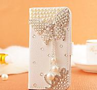 For Samsung Galaxy Case Card Holder / Rhinestone / Flip Case Full Body Case Butterfly PU Leather SamsungS7 edge / S7 / S6 edge plus / S6