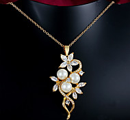 Hot Sale 18k Gold Plated Mahogany Pearl Statement Party Necklaces For Woman&Lady