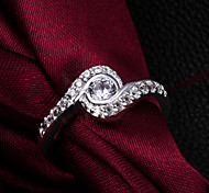 "2015 Fashion Noble""Eye"" Sterling Silver CZ Stone Ring  Band Rings For Woman & Lady"