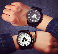 Large Dial Couple Fashion Watches Men Luxury Brand Sports Watches Women Dress Quartz Vintage Rubber Band Strap Watch Cool Watches Unique Watches