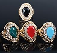 Недорогие -Жен. Заявление - Позолота Мода Стандартный размер Красный / Зеленый / Синий Назначение Для вечеринок