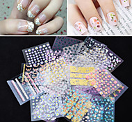 50pcs 3D Colorful Decal Stickers Nail Art Manicure Tips DIY Decoration