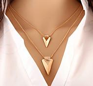 Недорогие -Жен. Слоистые ожерелья - На заказ, Классический, европейский Золотой Ожерелье Назначение Особые случаи, День рождения, Подарок