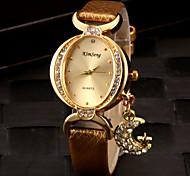 Женские Модные часы Часы-браслет Имитационная Четырехугольник Часы Имитация Алмазный Кварцевый PU Группа БлестящиеЧерный Белый Красный