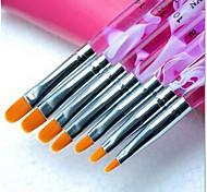 1set комплект маникюр фототерапии ручка фиолетовый стержень с плоской головкой 7 пакет маникюр инструмент оптовая желтый