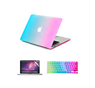 """cheap -Case for Macbook Air 11"""" Macbook Pro 13""""/15"""" Color Gradient ABS Material + Keyboard Cover + Screen protector"""