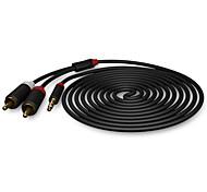 abordables -chapado en oro arco shengwei® de 3,5 mm a 2 RCA 1.8m cable de audio estéreo / 3m / 5m multicolor