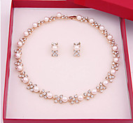 Women's Jewelry Set Vintage Cute Party Casual Link/Chain Fashion Simple Style Party Special Occasion Anniversary Birthday Gift Pearl Alloy
