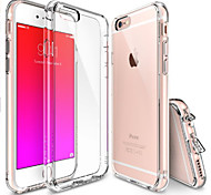 Crystal Clear Shock Absorption TPU Bumper Drop Protection Clear Hard Back  for iPhone 6/6S(Assorted Colors)