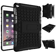 cheap -New Heavy Duty Armor Stand With Protective Double Color Shock Proof Cover Case For iPad Mini 4  (Assorted Colors)