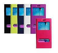 Недорогие -пу окно бумажник стенты случай мобильного телефона для Samsung Galaxy S6 края плюс / S6 / s6 края ассорти цвета