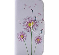 Pink Dandelion Painted PU Phone Case for Galaxy S6edge Plus/S6edge/S6/S5/S5mini/S4/S4mini/S3/S3mini