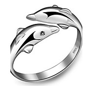 Women's Band Rings Cuff Ring Adjustable Cute Style Fashion Costume Jewelry Sterling Silver Animal Shape Jewelry For Party Anniversary