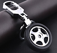 cheap -Car Wheel Shape DIY Keychain for Men & Women