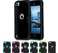 silicone in tre pezzi di picco goccia rabarbaro per iPod touch 5