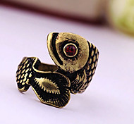 Vintage Style Drill  Small Fish Alloy Ring