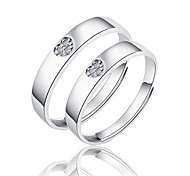 cheap -Couple's Sterling Silver Couple Rings - Fashion Silver Ring For Wedding / Party / Daily