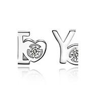 Серьга Серьги-гвоздики Бижутерия 1 комплект Свадьба / Для вечеринок / Повседневные Стерлинговое серебро Женский Серебряный