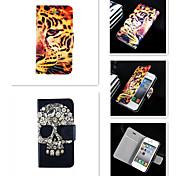 butch Skelett-Muster PU-Leder Ganzkörper-Case für iPhone 4 / 4S