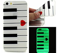 For iPhone 5 Case Glow in the Dark Case Back Cover Case Geometric Pattern Soft TPU iPhone SE/5s/5