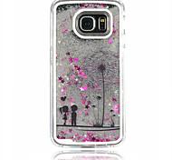 For Samsung Galaxy Case Flowing Liquid Case Back Cover Case Dandelion PC Samsung S6 edge / S6 / S5 / S4