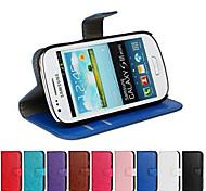 сумасшедший лошадь кожаный бумажник флип чехол с держателем карты и стоять функция для Samsung s3 мини i8190n