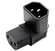 cheap -CY® IEC 320 Male C14 to Turnup Female C13 Power Extension Adapter