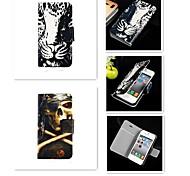 Tigerauge lou Restmuster PU-Leder Ganzkörper-Case für iPhone 4 / 4S