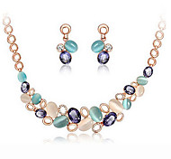cheap -Women's Jewelry Set Cute Party Fashion Cute Style Party Special Occasion Anniversary Birthday Gift Gemstone & Crystal Rose Gold Plated