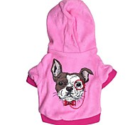 Dog Hoodie Dog Clothes Casual/Daily Rabbit/Bunny Red Blue