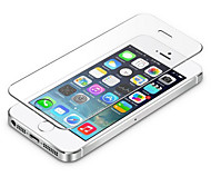 0,3 mm templado de protector de pantalla de cristal con un paño de microfibra para el iphone 5 / 5s / 5c