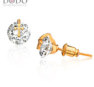 Men's Women's Stud Earrings Crystal Birthstones Crystal Cross Jewelry For Wedding Party Daily Casual