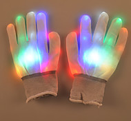 Valentine'S Day Gift Creative Colorful Flash Gloves Palm Luminous Street Dance Props Lamp Light Led