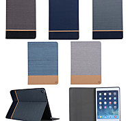 cheap -Case For iPad Air 2 with Stand Full Body Cases Solid Color Textile for iPad Air 2